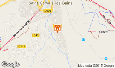 Mapa Saint Gervais Mont-Blanc Chalé 48749