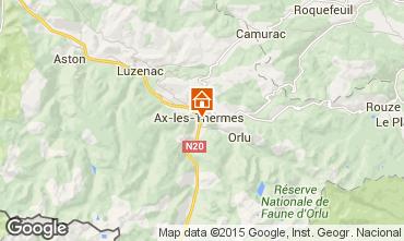 Mapa Ax Les Thermes Apartamentos 99264