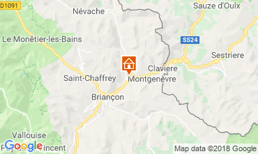 Mapa Montgenevre Apartamentos 97968