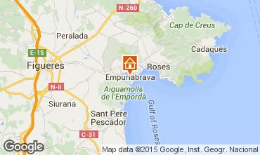 Mapa Empuriabrava Apartamentos 69678