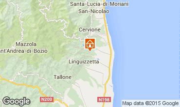 Mapa Moriani Plage Casa 51445