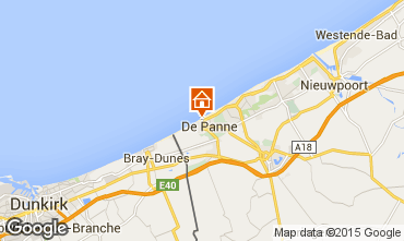 Mapa La Panne Apartamentos 32142