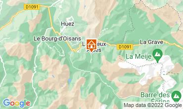 Mapa Les 2 Alpes Apartamentos 93391