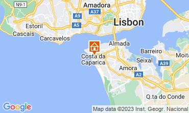 Mapa Costa da Caparica Apartamentos 112834