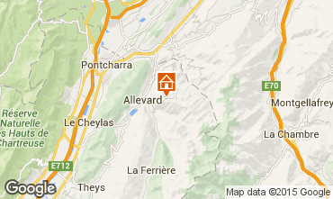 Mapa Le Collet d'Allevard Apartamentos 26573