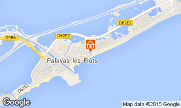 Mapa Palavas-les-Flots Apartamentos 83188