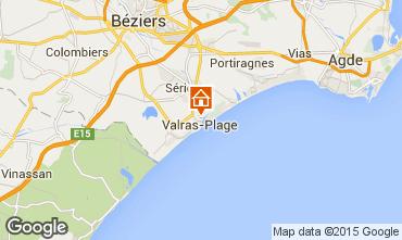 Mapa Valras-Praia Apartamentos 69389