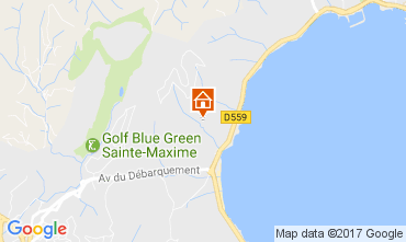 Mapa Sainte Maxime Apartamentos 76437