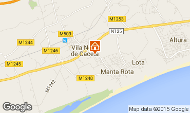 Mapa Monte Gordo Apartamentos 75935
