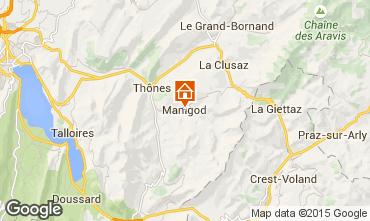 Mapa Manigod-Croix Fry/L'étale-Merdassier Apartamentos 1567