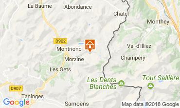 Mapa Morzine Chalé 114335