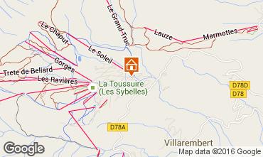 Mapa La Toussuire Apartamentos 67158