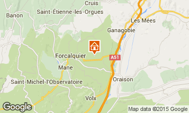 Mapa Forcalquier Casa de turismo rural/Casa de campo 13158