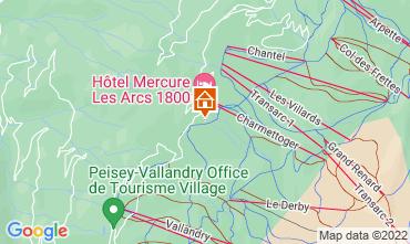 Mapa Les Arcs Chalé 131