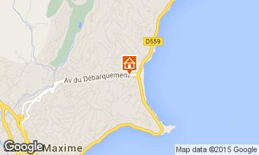 Mapa Sainte Maxime Apartamentos 54692