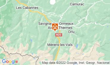 Mapa Ax Les Thermes Estúdio 3911