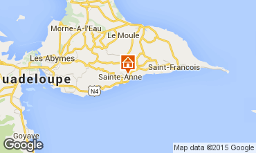 Mapa Sainte Anne (Guadalupe) Bungalow 91001