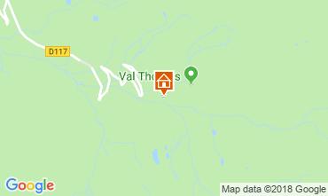 Mapa Val Thorens Apartamentos 117442