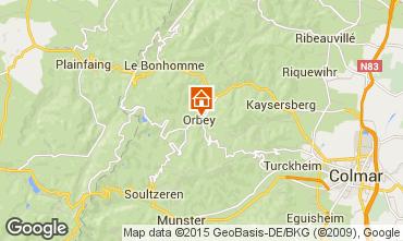 Mapa Orbey Apartamentos 68479
