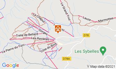 Mapa La Toussuire Apartamentos 111695