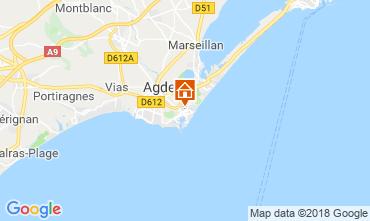 Mapa Cap d'Agde Apartamentos 117456