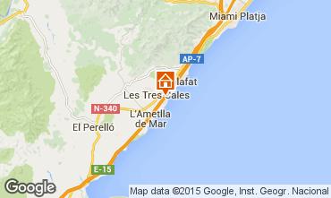 Mapa La Ametlla de Mar Chalé 77819