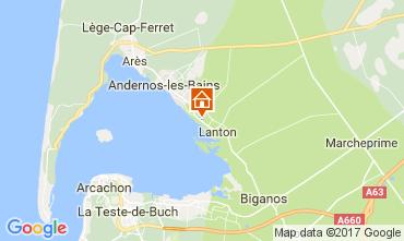 Mapa Andernos les Bains Casa de turismo rural/Casa de campo 103208