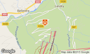 Mapa Montchavin les Coches Chal� 100439