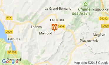Mapa Manigod-Croix Fry/L'étale-Merdassier Apartamentos 67225