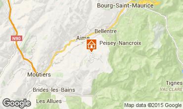 Mapa La Plagne Chalé 2154
