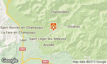 Mapa Saint L�ger les M�l�zes Apartamentos 99870