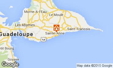 Mapa Sainte Anne (Guadalupe) Casa de turismo rural/Casa de campo 54345