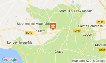 Mapa La Tranche-sur-mer Mobil Home 72501