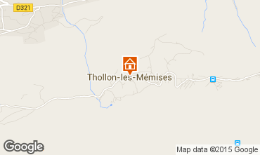 Mapa Thollon Les M�mises Apartamentos 69508