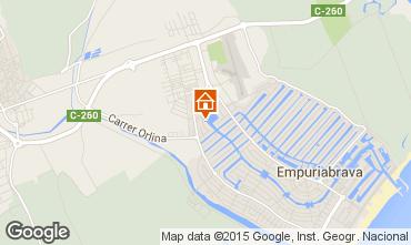 Mapa Empuriabrava Apartamentos 75379