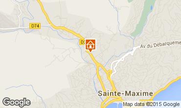 Mapa Sainte Maxime Apartamentos 70105