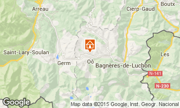Mapa Luchon Superbagneres Chal� 73170