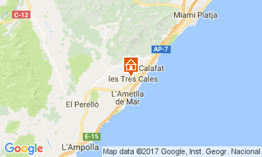 Mapa La Ametlla de Mar Casa 39352