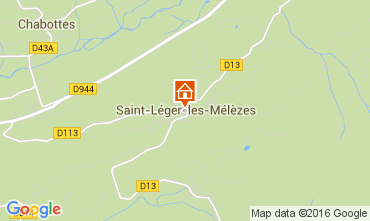 Mapa Saint Léger les Mélèzes Chalé 4835