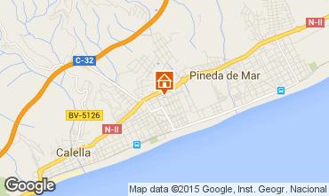 Mapa Pineda de Mar Apartamentos 46832