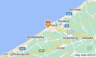Mapa Ostende Quarto de hóspedes 72510