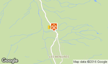 Mapa Les Menuires Chalé 102207