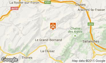 Mapa Le Grand Bornand Apartamentos 75054