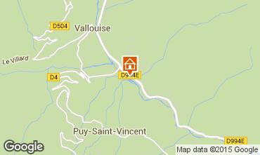 Mapa Puy Saint Vincent Chal� 94407