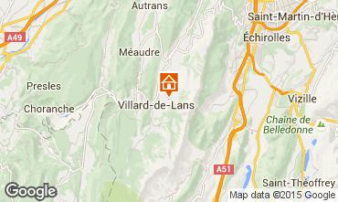 Mapa Villard de Lans - Corrençon en Vercors Chalé 3641