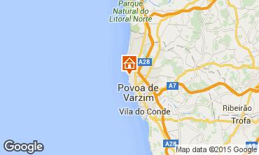 Mapa P�voa de Varzim Apartamentos 53916