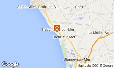Mapa Bretignolles sur mer Casa 94166