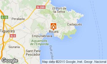 Mapa Rosas Apartamentos 76045