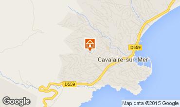 Mapa Cavalaire-sur-Mer Apartamentos 74506
