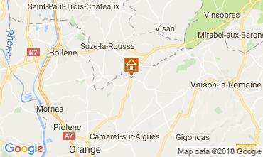 Mapa Sainte-Cécile-les-Vignes Casa de turismo rural/Casa de campo 113447